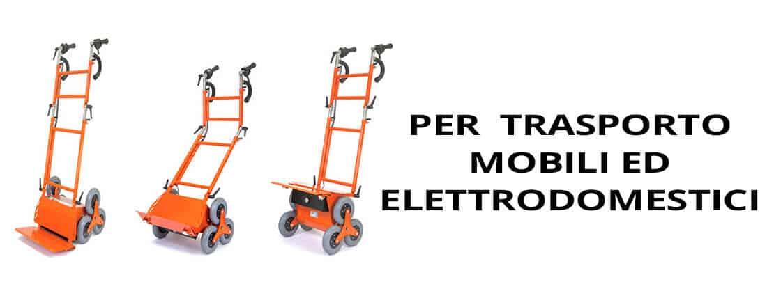 saliscale elettrico per trasporto elettrodomestici